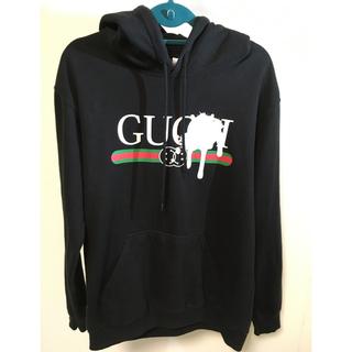 グッチ(Gucci)のパーカー L ブラック gucci 風(パーカー)
