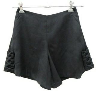クチュールブローチ(Couture Brooch)の【美品】リボンつきショートパンツ/ブラック、黒(ショートパンツ)
