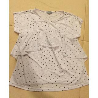 西松屋 - 授乳服 授乳トップス ドットブラウス