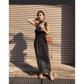アメリヴィンテージ(Ameri VINTAGE)のameri vintage☆ CUT WORK INDIGO DRESS(ひざ丈ワンピース)