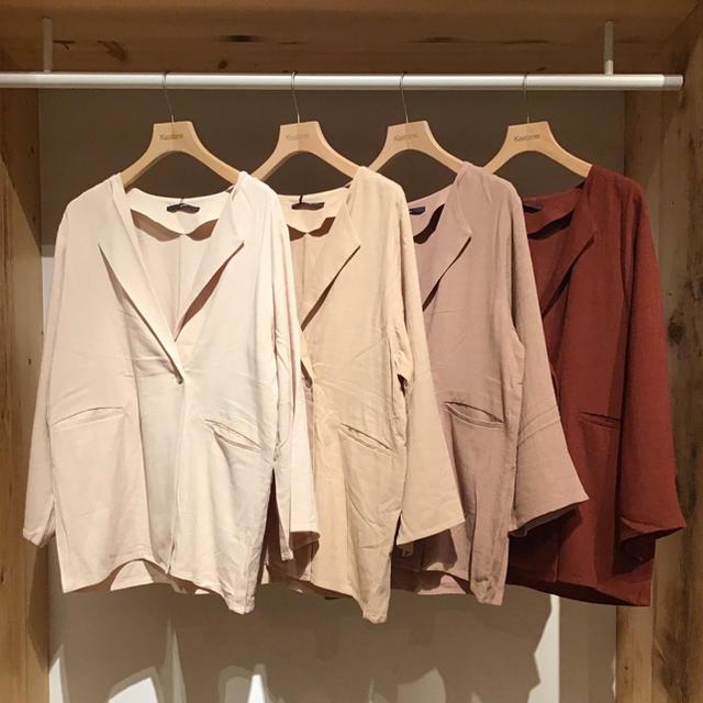 Kastane(カスタネ)のカスタネ BIGドルマンジャケット レディースのジャケット/アウター(ノーカラージャケット)の商品写真