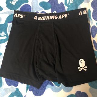 アベイシングエイプ(A BATHING APE)のAPE ボクサーパンツ 黒L 下着 新品 Tシャツ シャークパーカー(ボクサーパンツ)