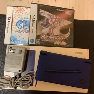 ニンテンドーDS(ニンテンドーDS)の最安 任天堂DSi ブルー カセット2本付き(携帯用ゲーム機本体)