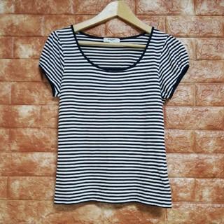 ナチュラルビューティーベーシック(NATURAL BEAUTY BASIC)のナチュラルビューティー ボーダーTシャツ(Tシャツ(半袖/袖なし))