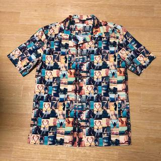 ギャルソンウェーブ(Garcon Wave)の美品 GARÇON WAVE ガールズフォト 総柄 オープンカラー シャツ 3(シャツ)