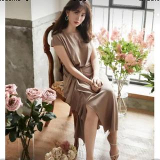 フレイアイディー(FRAY I.D)のherlipto Asymmetric Ruffled Jersey Dress(ロングワンピース/マキシワンピース)