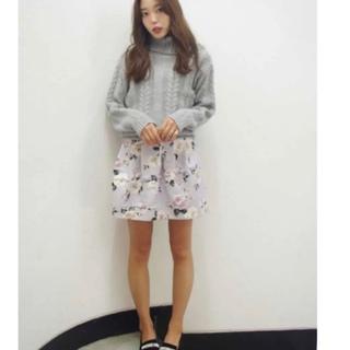 ダズリン(dazzlin)の花柄 コクーン スカート セット(ミニスカート)