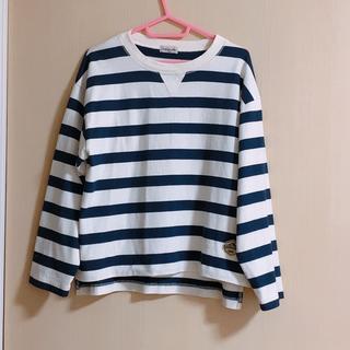 サマンサモスモス(SM2)のSM2*ワッペン付きボーダープルオーバー(Tシャツ(長袖/七分))