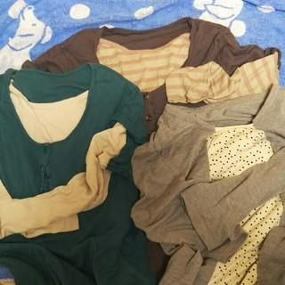 ベルメゾン(ベルメゾン)の値下げ☆ベルメゾン授乳服L寄りのLL。三枚セット(マタニティトップス)
