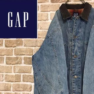 ギャップ(GAP)の【ギャップ】GAP 襟コーデュロイ色落ちデニムジャケット カバーオール(Gジャン/デニムジャケット)