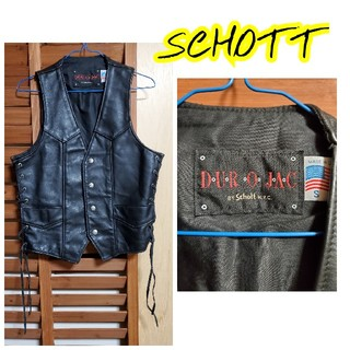 ショット(schott)のSCHOTT DUROJAC LEATHER VEST(レザージャケット)