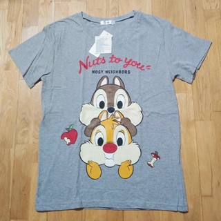 チップアンドデール(チップ&デール)のチップとデール Tシャツ ディズニー チップ デール グレー 新品タグ付き(Tシャツ(半袖/袖なし))
