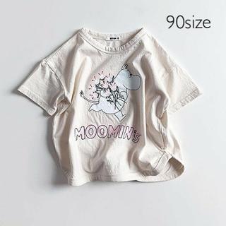 ムーミン花束Tシャツ 90size(Tシャツ/カットソー)