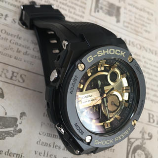 ジーショック(G-SHOCK)のG-SHOCK  G-STEEL ブラック×ゴールド(腕時計(デジタル))