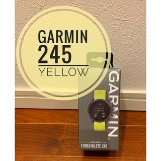 ガーミン(GARMIN)のGARMIN(ガーミン)ForeAthlete 245《国内正規品》yellow(トレーニング用品)