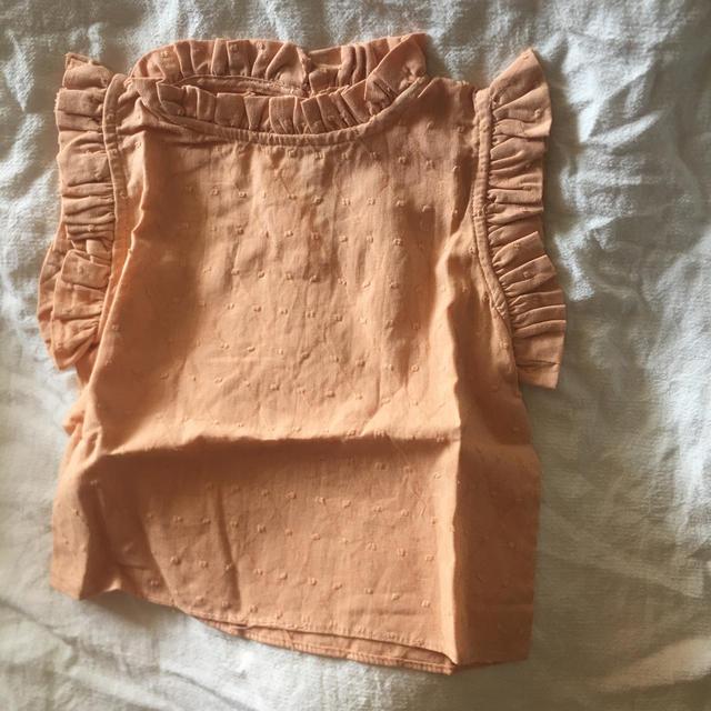 Caramel baby&child (キャラメルベビー&チャイルド)の コットンブラウス ノースリーブ フリル  確認用 キッズ/ベビー/マタニティのキッズ服女の子用(90cm~)(ブラウス)の商品写真