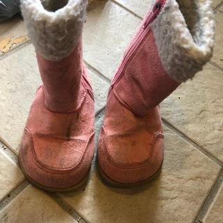 冬 ブーツ ピンク 14cm 女の子(ブーツ)