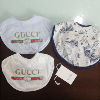 グッチ(Gucci)のGUCCI スタイ 3枚セット(ベビースタイ/よだれかけ)