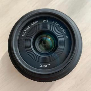 Panasonic - 本日限りの値下げ!単焦点パンケーキレンズ プロテクター付き!20mmf1.7
