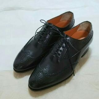 サントーニ(Santoni)のサントーニ (ブラック)フルブローグ  5.1/2(ドレス/ビジネス)