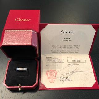 カルティエ(Cartier)のカルティエ ミニラブリング ホワイトゴールド☆58サイズ 18号(リング(指輪))
