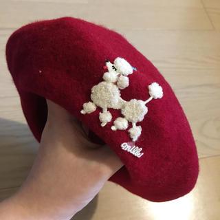 ミルク(MILK)のMILK プードルロゴベレー帽(ハンチング/ベレー帽)