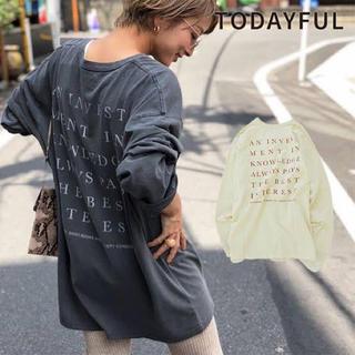 トゥデイフル(TODAYFUL)のTODAYFUL   Backprint Long T-Shirts (Tシャツ(長袖/七分))