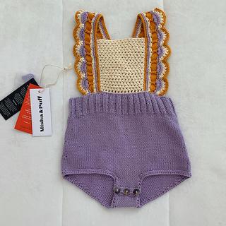 キャラメルベビー&チャイルド(Caramel baby&child )のmisha&puff ロンパース ラベンダー(ロンパース)