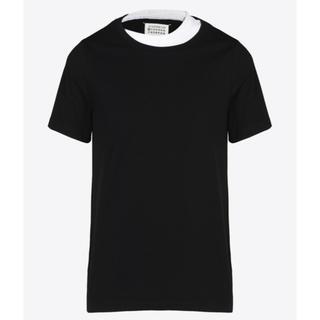 マルタンマルジェラ(Maison Martin Margiela)の美品 Maison Margiela マルジェラ ダブルネック Tシャツ 50(Tシャツ/カットソー(半袖/袖なし))