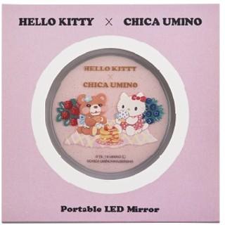 ハローキティ(ハローキティ)のキティ × ウミノチカ コラボ LED コンパクトミラー 【新品】(ミラー)