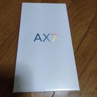 アンドロイド(ANDROID)のoppo AX7 新品未開封(スマートフォン本体)