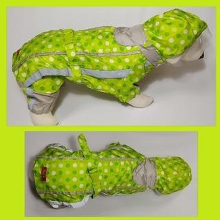 アイリスオーヤマ(アイリスオーヤマ)のアイリスオーヤマ Pecolle犬用レインコート グリーン MDサイズ(犬)