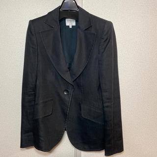 アルマーニ コレツィオーニ(ARMANI COLLEZIONI)のARMANI COLLEZIONI 38ブラック 綿混麻ジャケット(テーラードジャケット)