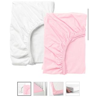 イケア(IKEA)のイケア ベビーベッド用 ボックスシーツ 2枚セット(シーツ/カバー)