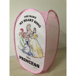 ディズニー(Disney)のディズニープリンセス おもちゃ箱 ランドリーボックス 洗濯かご(ケース/ボックス)