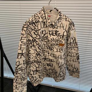 シュプリーム(Supreme)のSupreme Painted Canvas Chore Coat white (Gジャン/デニムジャケット)