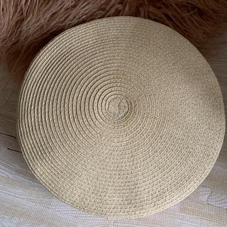 ゴア(goa)の新品未使用 ☆ GOA ☆ ストロー素材 ベレー帽(ハンチング/ベレー帽)