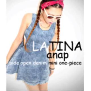 アナップラティーナ(ANAP Latina)のANAP LATINA サイドオープンデニムミニワンピ(ミニワンピース)