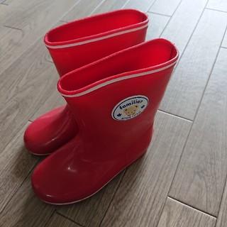 ファミリア(familiar)のfamiliar  赤  レインブーツ  長靴  16.0(長靴/レインシューズ)