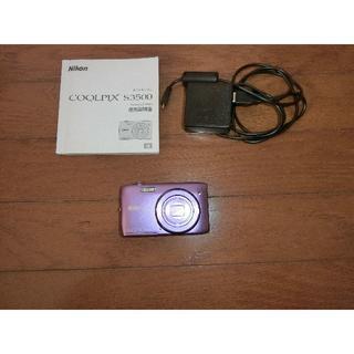 ニコン(Nikon)の★ジャンク品・部品どり★ニコン クールピクス S3500 ピンク取説付き(コンパクトデジタルカメラ)