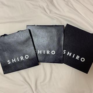 シロ(shiro)のshiro デパコス ショップ袋 ショッパー(ショップ袋)