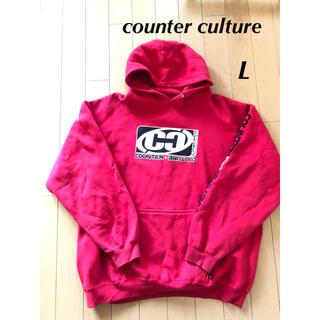 カウンターカルチャー(Counter Culture)のcounter culture カウンターカルチャー☆フード付きパーカー L (パーカー)