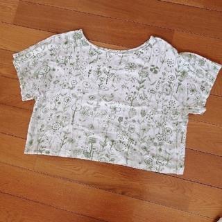 ミナペルホネン(mina perhonen)のTシャツ letter of flower(Tシャツ(半袖/袖なし))