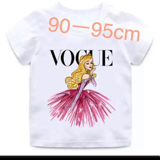 オーロラ姫 - インポートプリンセス Tシャツ90-95.ディズニー.オーロラ姫