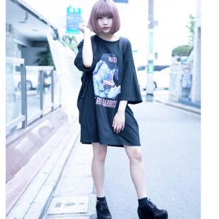ミルクボーイ(MILKBOY)のMILKBOY FAT BUNNY TEE うさぎ BIG Tシャツ ブラック(Tシャツ/カットソー(半袖/袖なし))