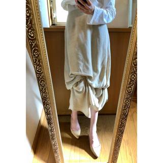エンフォルド(ENFOLD)のENFOLD ドレープ アシンメトリー リネン 麻 スカート (ロングスカート)