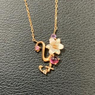 サマンサタバサ(Samantha Thavasa)のイニシャル『y』 K10 ネックレス 美品(ネックレス)