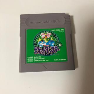 ゲームボーイアドバンス(ゲームボーイアドバンス)のポケモン 緑 GB ゲームボーイ ソフト(携帯用ゲームソフト)