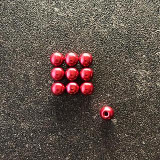 ミニ四駆 ボールキャップ x10 レッド(模型/プラモデル)