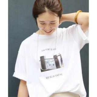 イエナ(IENA)のIENA 2020SS Bonne Vie フォト Tシャツ(Tシャツ/カットソー(半袖/袖なし))